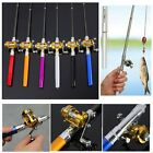 New Portable Pocket Mini Aluminum Alloy Fish Pen Shape Fishing Rod Pole + Reel