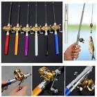 New Portable Pocket Mini Aluminum Alloy Fish Pen Shape Fishing Rod Pole + Reel