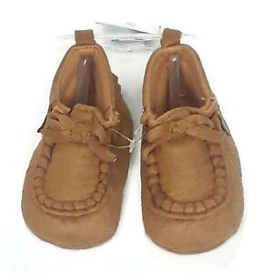 Carter's Infant Boys Moccasins Shoes 3-6 Months Brown Baby