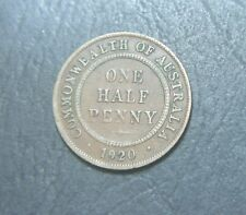 1920 Australian Half Penny,