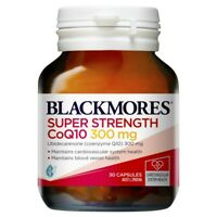 Blackmores Super Strength CoQ10 300mg 30 Capsules Co-enzyme Q10 Heart Health
