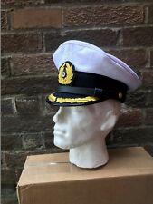 Segunda Guerra Mundial Marina Alemana KRIEGSMARINE Kapitan Visera Gorra Talla 58