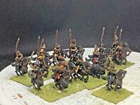 15mm Fantasy Elvian Cavalry Spears /& Shield /& Lightly Armored Horse 16 figures