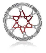 XLC 203 mm Idraulico Freno A Disco Rotore CNC lavorato Rosso e Argento Inossidabile £ 20 OFF