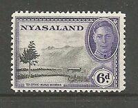 Album Treasures Nyasaland Scott # 74  6p George VI Tea Estate Mint LH