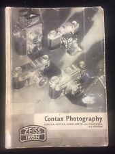 VINTAGE 1938 ZEISS IKON CONTAX PHOTOGRAPHY HANDBOOK DEALING W MINIATURE CAMERAS