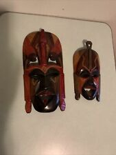 Hand Carved Wood Masks Made In Kenya Wood African Wall Art