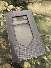 HIGH QUALITY NEW Classic Grey Tie Set Solid Mens Silk  Wedding Necktie Sets