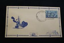 NAVAL COVER 1946 SHIP'S CANCEL BATTLESHIP CACHET  USS MONTAGUE (AKA-98) (6709)
