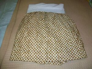 CHAPS RALPH LAUREN TWIN BED SKIRT DUST RUFFLE NWOT BAMBOO WEAVE PATTERN