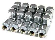 Set of 20 Chrome 12x1.5 Lug Nuts 1 3/8 inch 60° Conical Seat 3/4 Hex Lugs CP