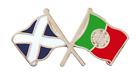 Portugal Flag & Scotland Flag Friendship Courtesy Pin Badge