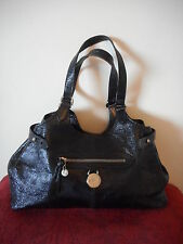 Mulberry Net A Porter Genuine Somerset Black Sparkle Leather Tote Shoulder Bag