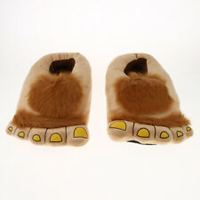 White Black 39872-Large Big Adults Big Foot Tiger Animal Claw Slippers Norty