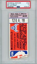 1973 NBA ALL STAR GAME TICKET STUB DAVE COWENS MVP PSA 3 RARE BASKETBALL COOL
