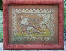 ancienne tapisserie a l effigie de Jeanne d arc ( objet religieux )