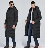 Winter Hooded Cool Puffer Warm Full Length Duck Down Jacket Mens Long Parka Coat
