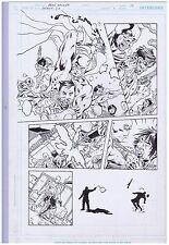 SECRET SIX ISSUE 1 PAGE 10 NICE PAGE WITH INKS BY BRAD WALKER ORIGINAL ART