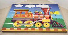 Wooden Peg Puzzle Train 9 Pieces Children's