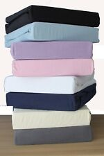 Premium Quality Thick Jersey 100%Cotton Fitted Sheet.SinlgeDouble,king,Superking