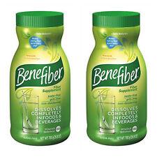 (2) Benefiber 190 servings Sugar Free Non-thickening POWDER Fiber, 25.5oz each