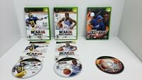 TESTED Xbox lot of 3 Games- NCAA 06 Football, NCAA 06 March Madness, MLB 2003