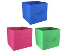 6PCS Foldable Fabric Storage Boxes Bins Set of Cubby Cubes with Handles