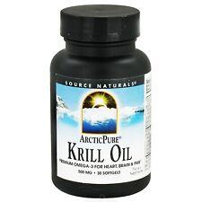Source Naturals Arctic Pure Krill Oil 500mg, 30 Softgels