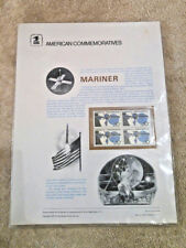 #47 10c Mariner Spacecraft #1557  USPS Commemorative Stamp Panel NEW