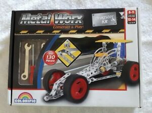 METAL WORX CONSTRUCT & PLAY DRAGSTER KIT COLORIFIC