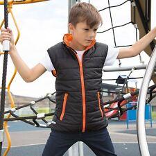 Infantil Ligero Cálido Acolchado Chaleco de invierno Camiseta