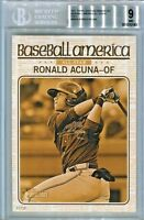 RONALD ACUNA 2017 Topps Heritage BA AS Gold 5x7 rookie only 10 #/10 BGS 9 MINT