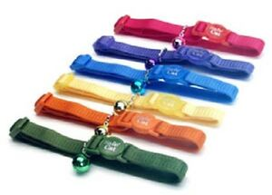 "Coastal Safe Cat Nylon Adjustable Cat Collar 3/8"" x 8""-12"" MANY COLOR CHOICES"