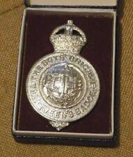 More details for vintage scarce bb / boys brigade queens badge in original presentation box
