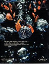 Publicité Advertising 108  2009   montre Omega  seamaster ploprof