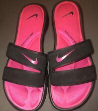 Nike Ultra Comfort SLIDE Sz 7 Women's Flip Flops Sandals Black & Pink 882695