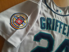 Seattle Mariners #24 Ken Griffey Jr.Throwback Jersey New Tag dual patches sewn