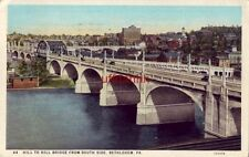 HILL TO HILL BRIDGE FROM SOUTH SIDE, BETHLEHEM, PA 1937