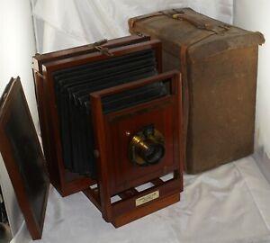 8x10 Rochester Camera Mfg. Co. Favorite Camera w/ Brass Lens & Canvas Case