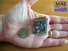 Captain America #1 Comic miniature reproduction. Artisan