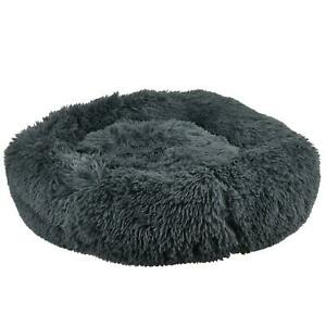 Large Pet Dog Cat Calming Bed Comfy Shag Fluffy Warm Bed Nest Mattress Donut Pad