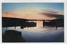 MIDNIGHT SUN, LERWICK HARBOUR: Shetland postcard (C16381)