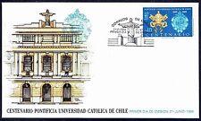 CHILE FDC COVER 1988 # 1298 UNIVERSITY CATHOLIC EDUCATION