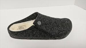 Birkenstock Zermatt Rivet Slippers, Grey Wool, Women's 8 Narrow (EU 39)