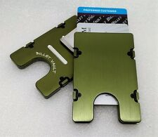 BilletVault Wallet/Card Holder, Aluminum RFID protection, Green