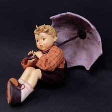 "MJ Hummel Goebel Germany Porcelain & Soft UMBRELLA BOY 8.5"" Doll"