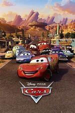 """DISNEY'S CARS POSTER """"LICENSED"""" BRAND NEW """"LIGHTNING McQUEEN, MATER, SALLY"""""""