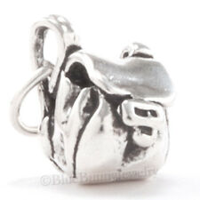 BACK PACK Charm Pendant Travel Trip Camp Hiking School STERLING SILVER 925 3D