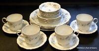 20 pcs ~ JOHANN HAVILAND china BLUE GARLAND pattern ~ 4 X 5 Piece Place Settings