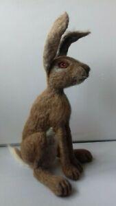 Large Hare British Rare Breed wool needle felt kit WULYDERMY UNBOXED